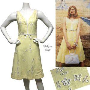 ANTHROPOLOGIE Sweet Romance Eyelet VtgLook Dress 4